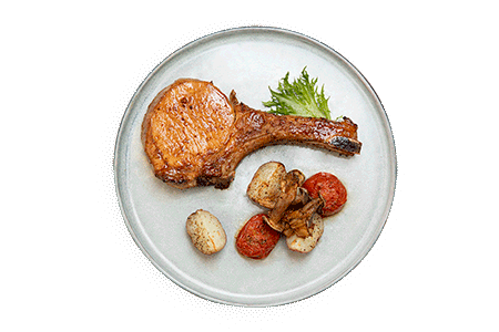 Grilled Tomahawk Pork Chops with secret honey recipe